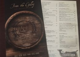 restaurant menu design new bedford ma