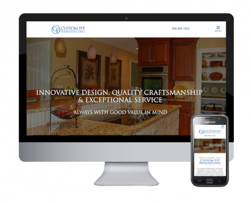 custom fit remodeling website design