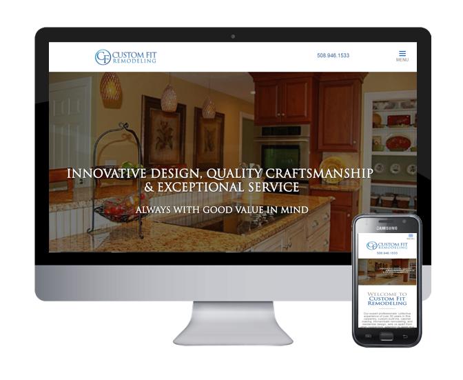 custom fit remodeling website design