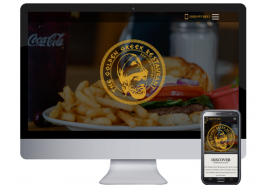 golden greek website design